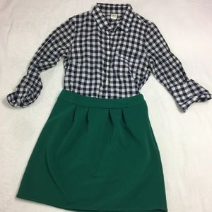 J Crew Shirt and Emmelee Skirt- Bundle Size S/4-6